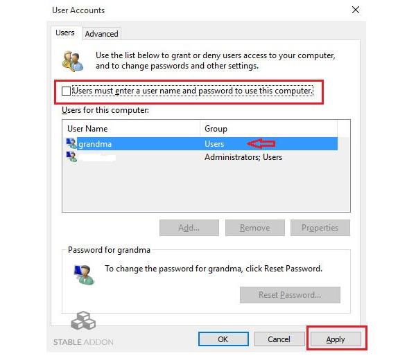 Các bước thực hiện bỏ đăng nhập win 10 trên máy tính