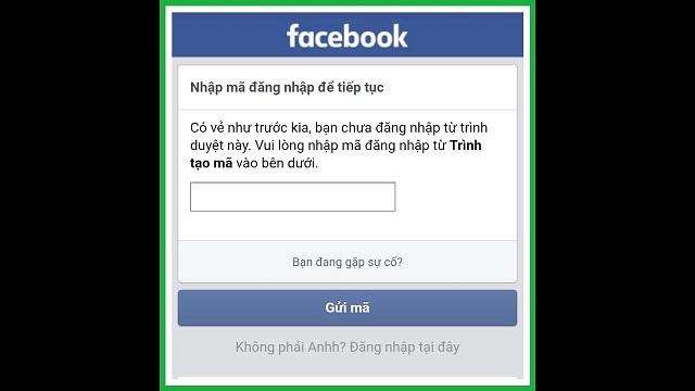 Cách phá trình tạo mã Facebook