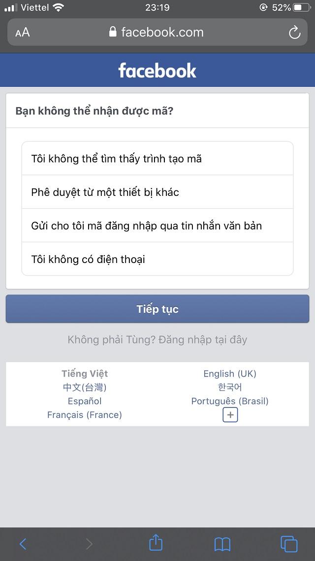 Facebook gửi thông báo