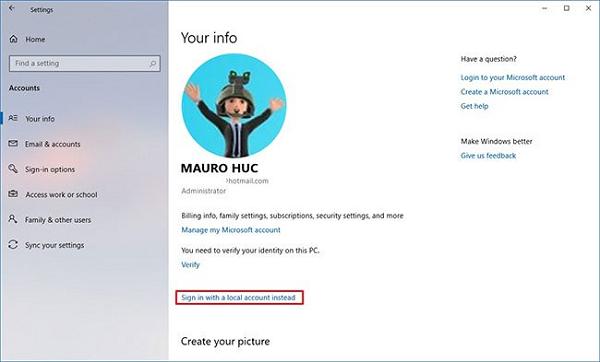 Xóa mật khẩu cho tài khoản Microsoft