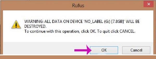 Bước 2: Xác nhận xóa dữ liệu trong USB của bạn