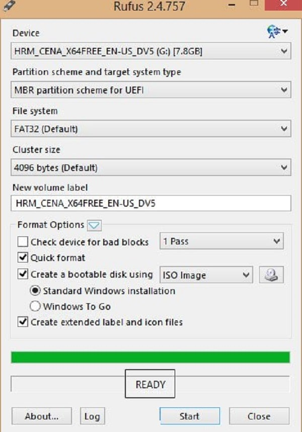 Bước 4: Hoàn tất quá trình tạo USB boot