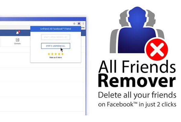 Dùng extension Friends Remover Free