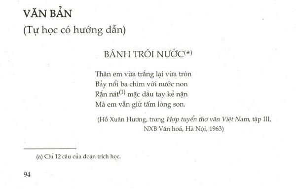 """Bài thơ """"Bánh trôi nước"""" của Hồ Xuân Hương"""