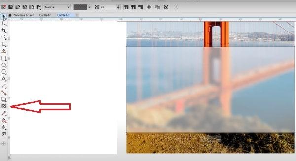Bạn click vào biểu tượng có hình vuông caro để điều chỉnh độ sương mờ cho hình ảnh